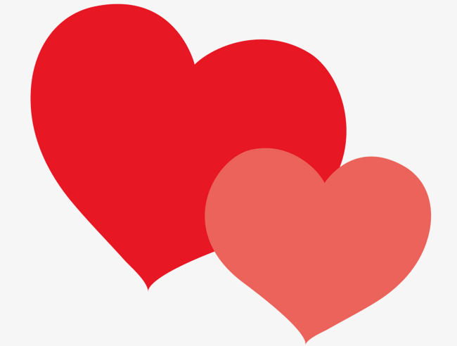 650x492 Two Hearts, Vector Diagram, Red, Red Heart Png And Vector For Free