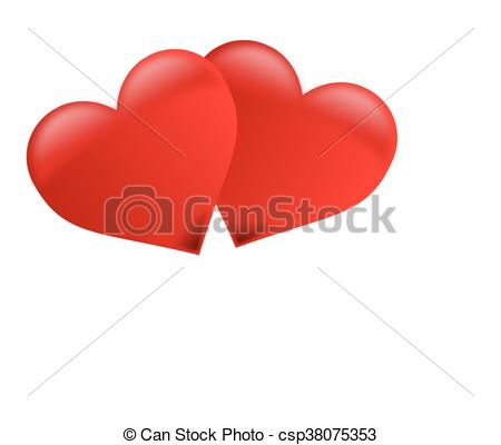 450x400 Two Hearts , Two Red Hearts ,