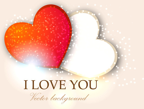 485x368 Two Hearts Vector Free Vector Download (4,679 Free Vector) For