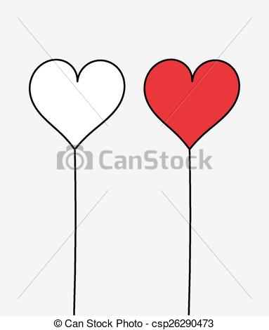383x470 Two Hearts. Vector Illustration.