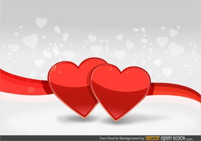 400x282 Free Two Hearts Background Clipart And Vector Graphics