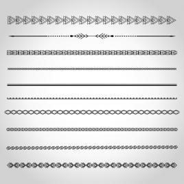 268x268 Border Decoration Elements Various Classical Types Vectors Stock