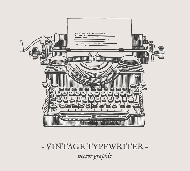 Typewriter Vector