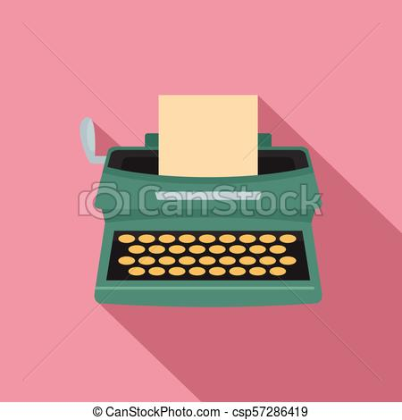 450x470 Old Typewriter Icon, Flat Style. Old Typewriter Icon. Flat
