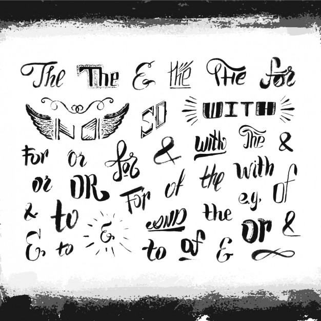 626x626 Hand Drawn Typography Elements Vector Free Download