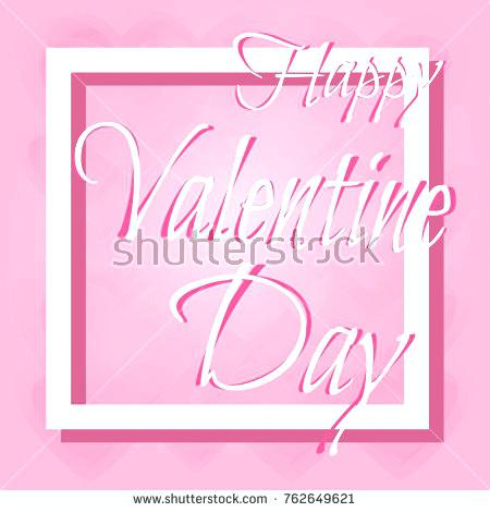 450x470 Happy Valentine Day Letter Vector Template Or Background Greeting