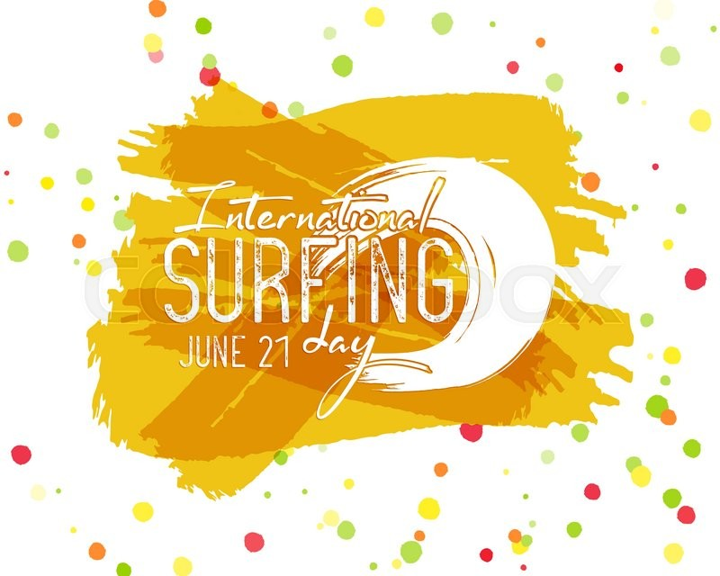 800x640 Surfing Day Label Graphic Elements. Vector Vacation Typography
