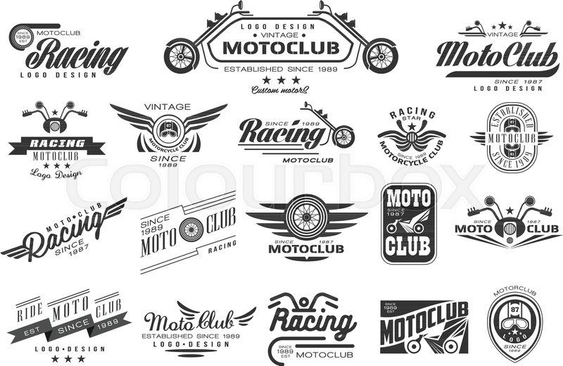 800x520 Vector Set Of Original Bikers Emblems. Vintage Logo Design