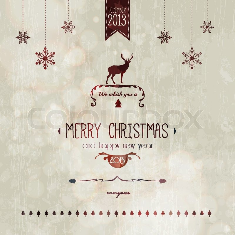 800x800 Vintage Styled Christmas Card