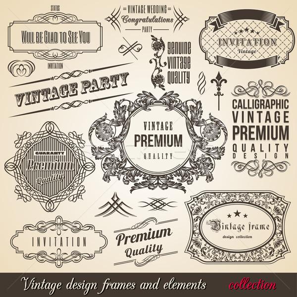 600x600 Calligraphic Element Border Corner Frame And Invitation Collection
