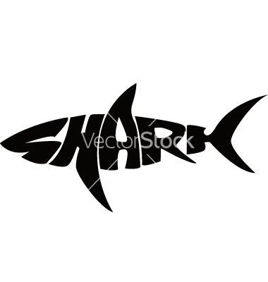 380x400 Shark Typography Vector Typography Art (Illustrationsposter