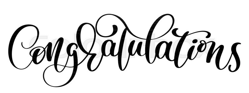 800x300 Congratulations Hand Lettering Calligraphic Greeting Inscription