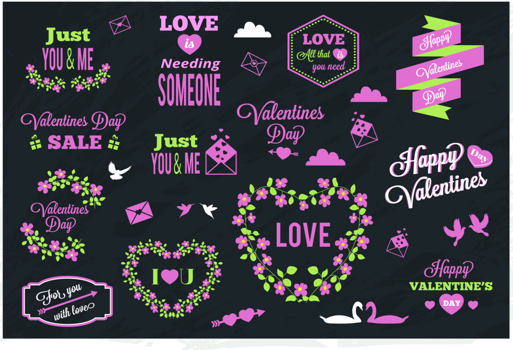 1024x699 Pink Love Love Text Typography Vector Free Download Eps Files