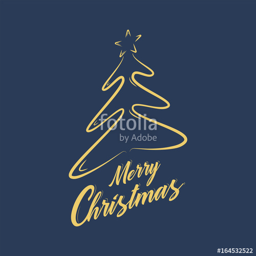 500x500 Merry Christmas Typography Design,calligraphic Of Text Vector