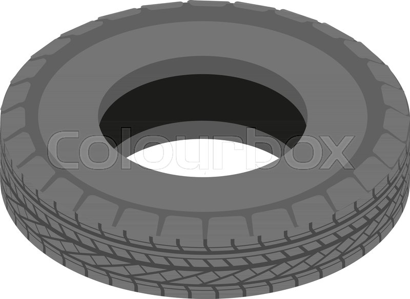 800x584 Car Tyre Icon. Isometric Illustration Of Car Tyre Vector Icon For