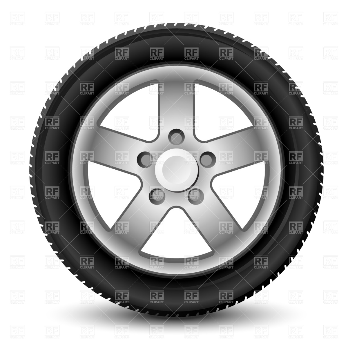 1200x1200 Car Wheel With Tyre Vector Image Vector Artwork Of