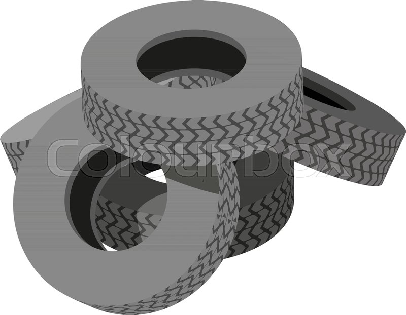 800x622 Pile Tyre Icon. Isometric Illustration Of Pile Tyre Vector Icon