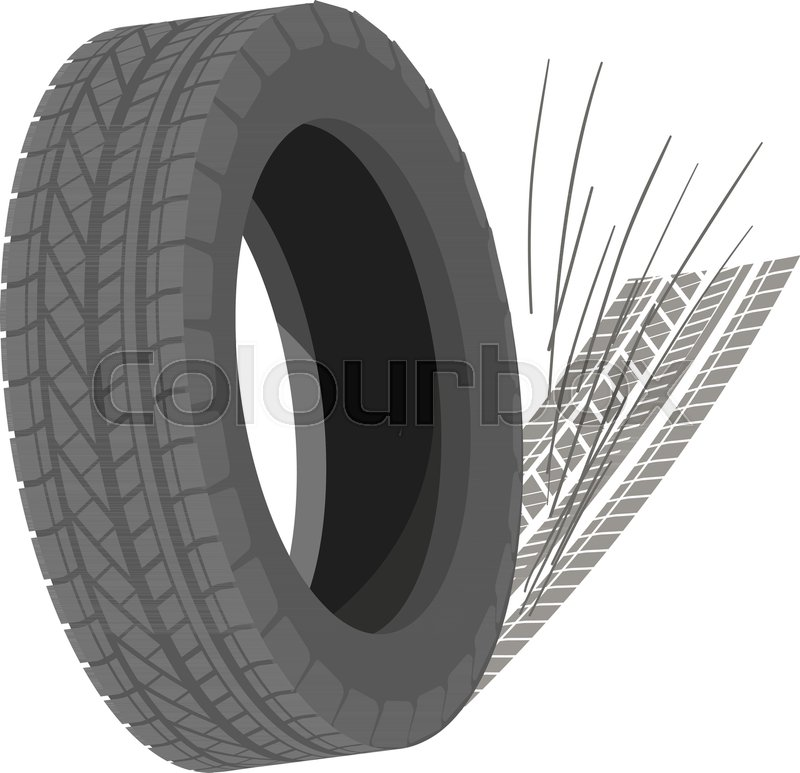 800x773 Spinning Tyre Icon. Isometric Illustration Of Spinning Tyre Vector