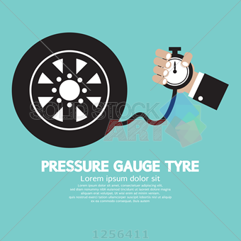 340x340 Stock Illustration Of Pressure Gauge Tyre Vector Illustration