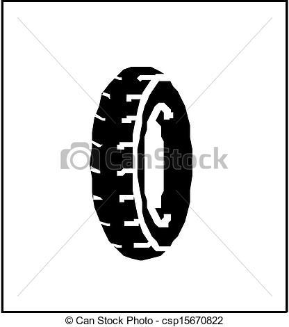 416x470 Vector Rubber Tyre .