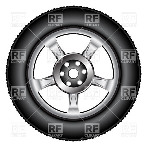 480x480 Alloy Wheel Tyre Vector Image Vector Artwork Of Objects
