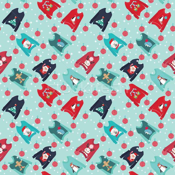 600x600 Christmas Background With Cute Ugly Christmas Sweaters Set Swea