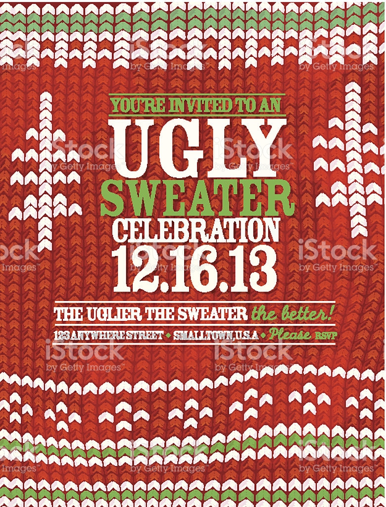 Ugly Christmas Sweater Pattern Vector At Getdrawings Com Free For