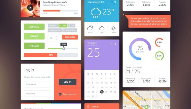 626x356 Amazing Ui Kit Psd Material Vector Free Download