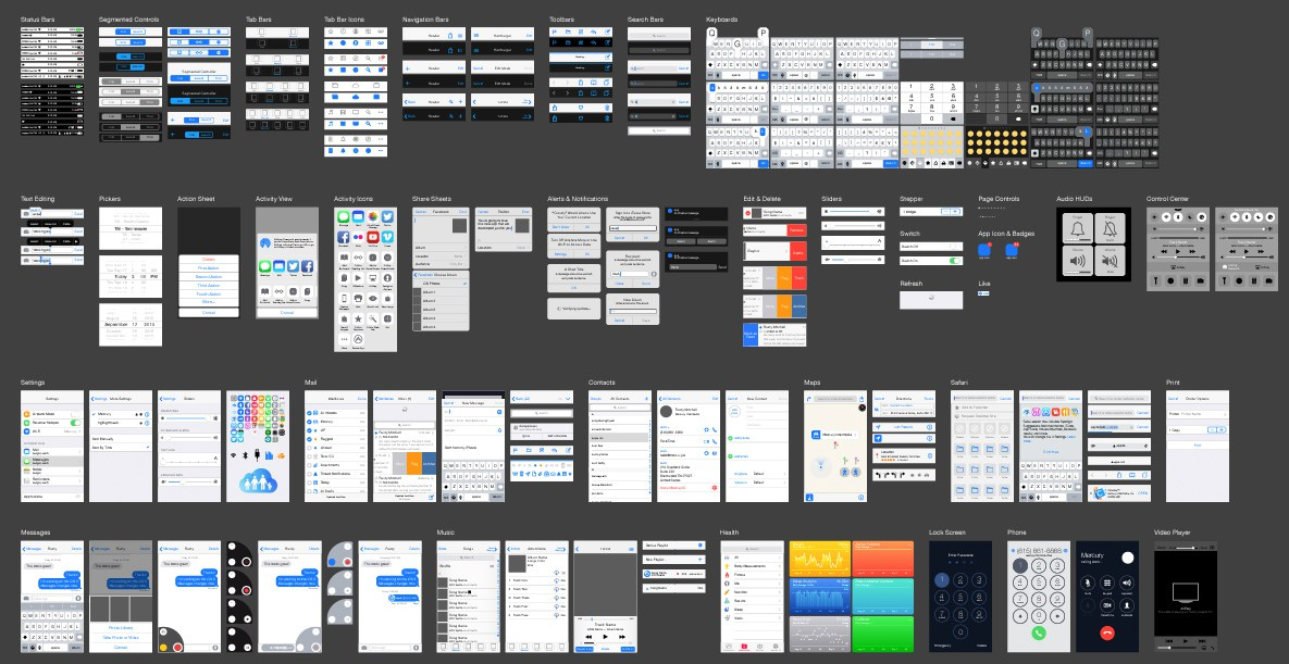1185x611 Free Ios 8 Vector Ui Kit The Graphic Mac