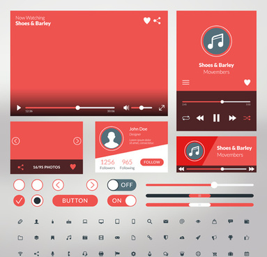 383x368 Mobile Flat Ui Kit Vector Design Png Images, Backgrounds And