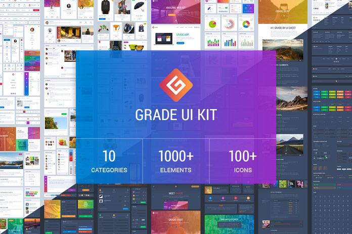 696x463 Download Grade Ui Kit + Bonus Vector Icons