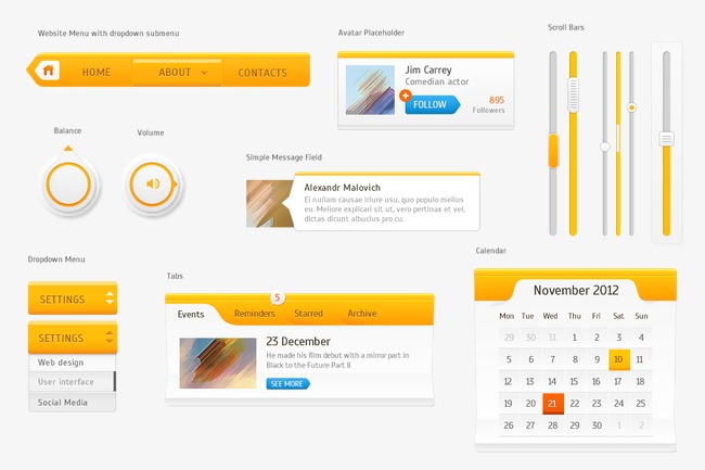 650x433 Yellow Ui Kit, Vector, Window, Ui Png And Psd File For Free Download
