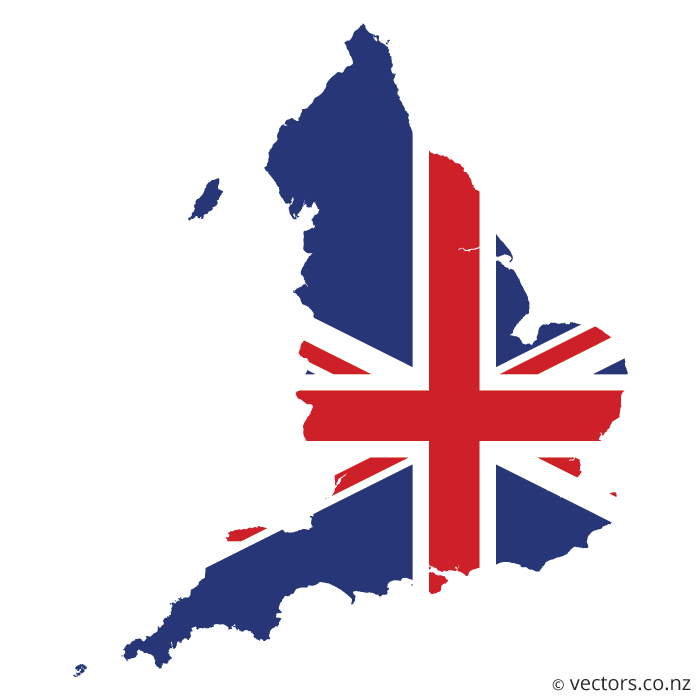 700x700 Uk Flag Vector Map Of England