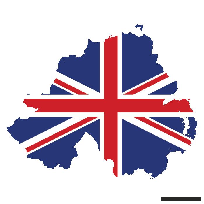 700x700 Uk Flag Vector Map Of Northern Ireland