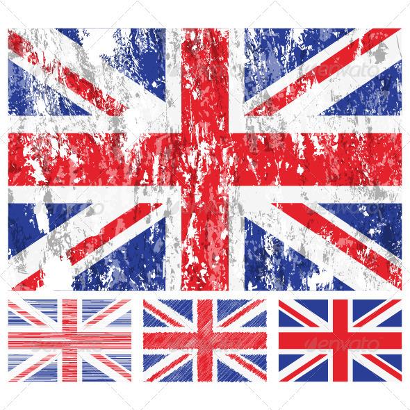 590x590 United Kingdom Grunge Flag Set By Julydfg Graphicriver