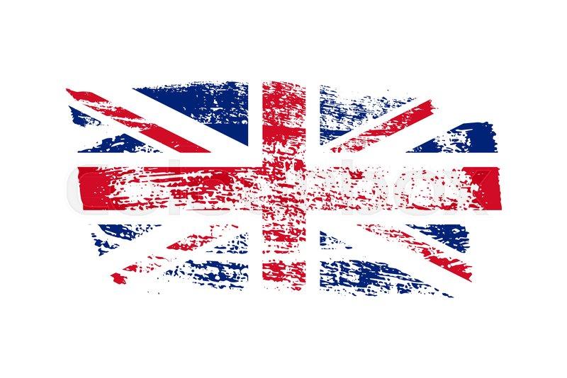 800x534 Vintage British Flag Illustration. Vector Uk Flag On Grunge