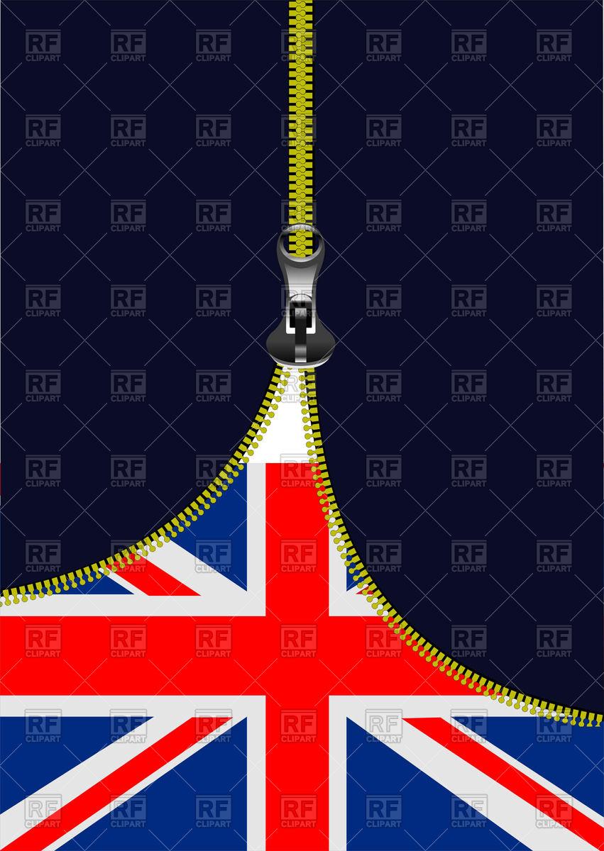 851x1200 Zipper Opening Uk Flag Vector Image Vector Artwork Of