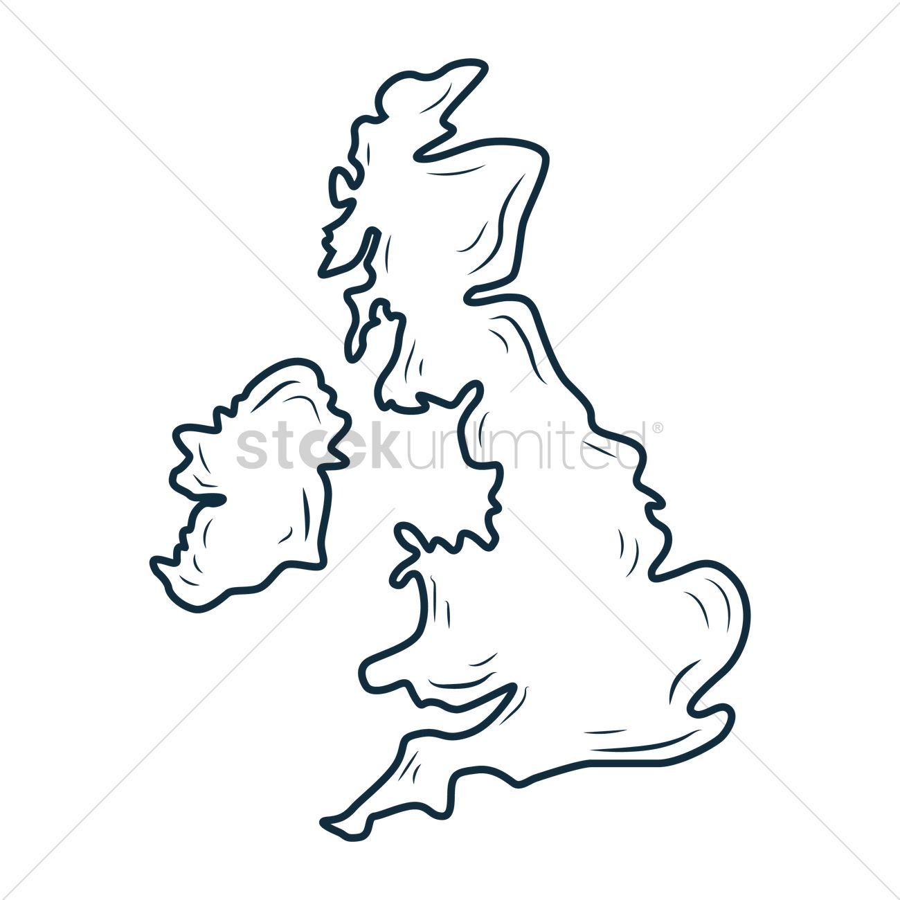 1300x1300 Free Uk Map Vector Image
