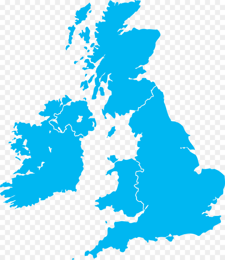 900x1040 Great Britain British Isles Vector Map
