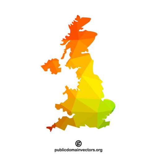 500x500 Map Of United Kingdom Public Domain Vectors
