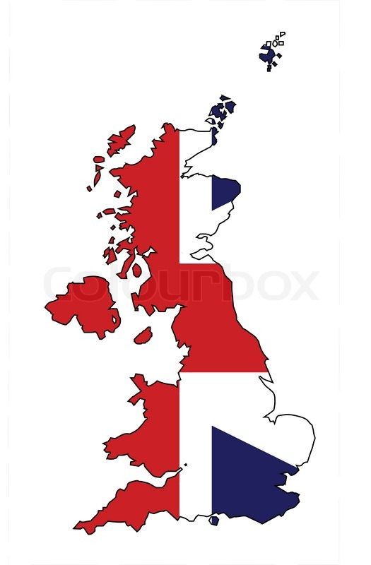 525x800 Outline Map Of The United Kingdom Of England Scotland Northern