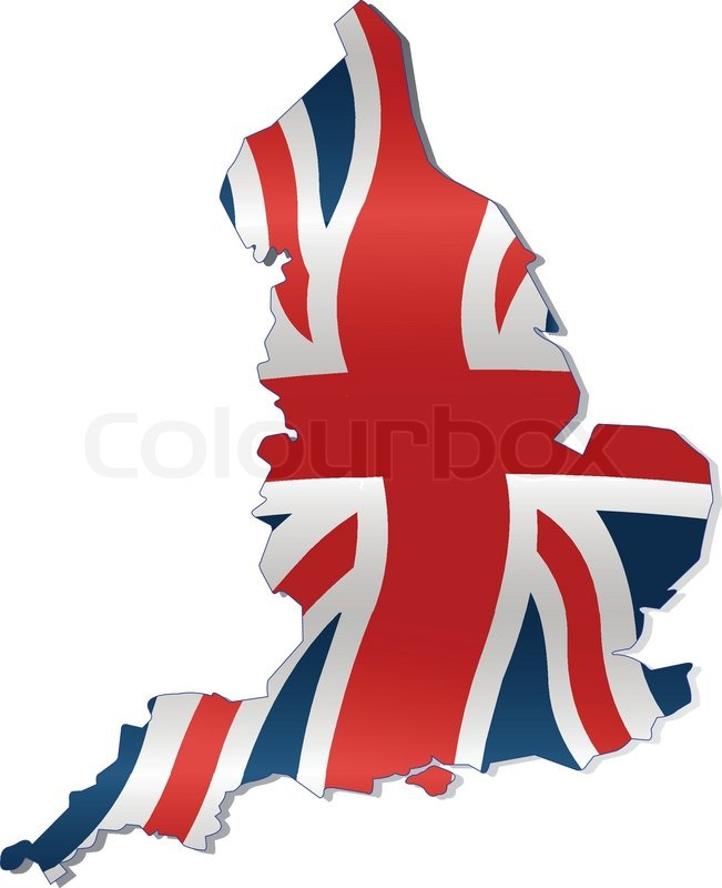 651x800 Uk Map With British Flag Stock Vector Colourbox