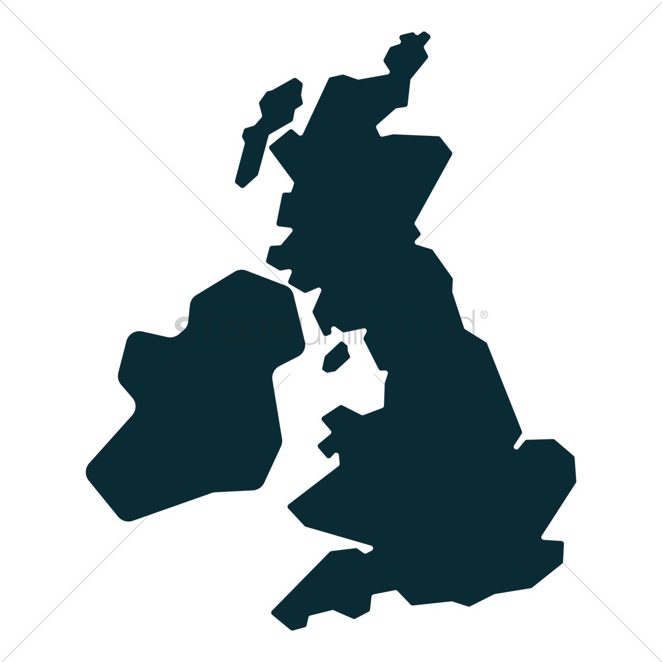 1300x1300 Uk Map Vector Image