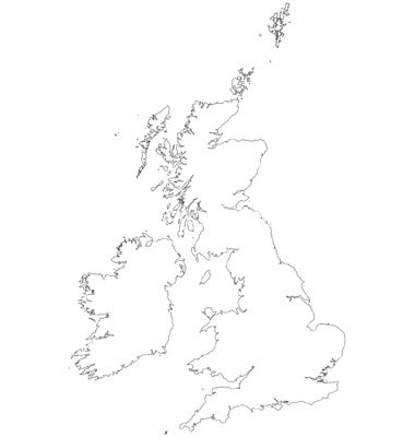 380x400 United Kingdom Map Outline Vector American Maps