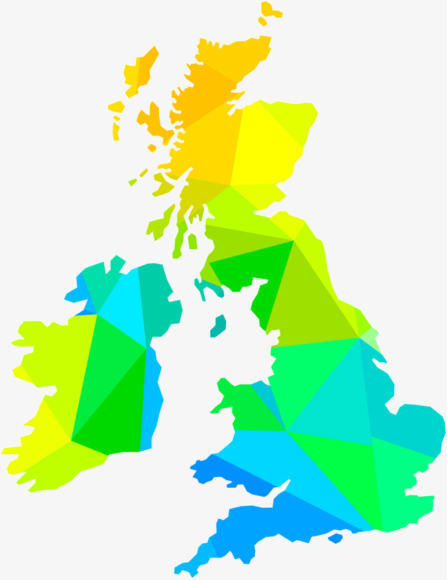 650x844 Vector Low Polygon Uk Map, Color, Vector, Low Polygon Png And