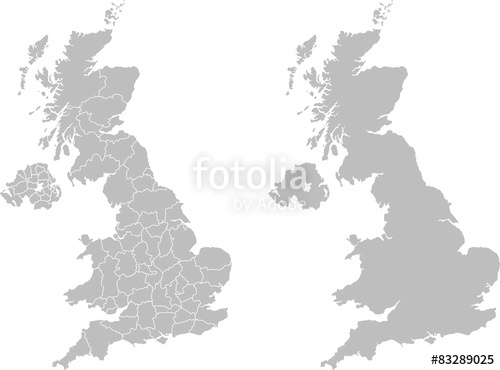 500x370 Map Of United Kingdom Stock Image And Royalty Free Vector Files
