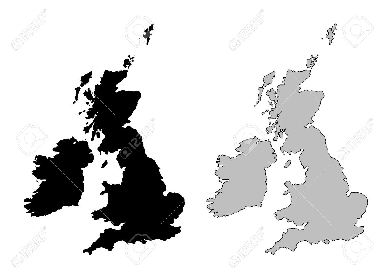 1300x919 Map Uk Vector