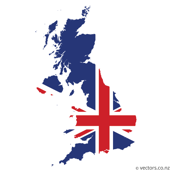 700x700 Flag Vector Map Of The United Kingdom