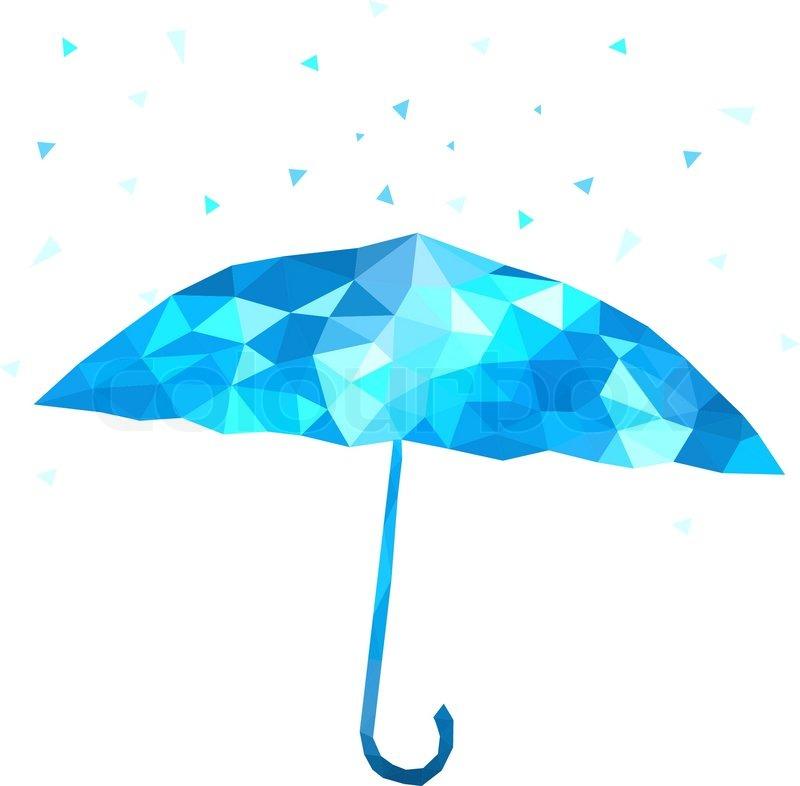 800x786 Polygonal Umbrella Vector Illustration Stock Vector Colourbox