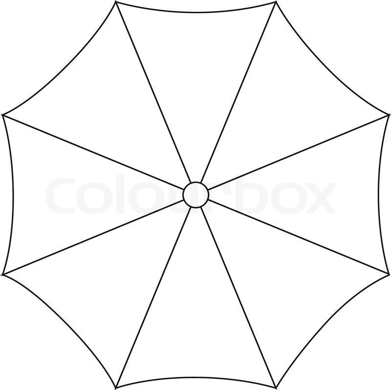 800x799 Umbrella On White Background Vector Illustration Stock Vector